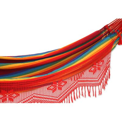 Purchase Double Person Fair Trade Festive Icarai Rainbow Hand Woven Brazilian Sustainable Cotton Cr - Image - 257