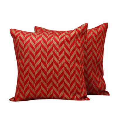 Chevrons Block Print Pillow Cover