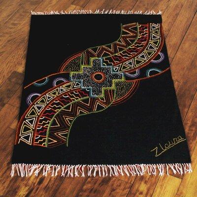 Inca Black Area Rug