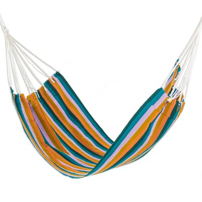 Handwoven Guatemalan Single Polyester Tree Hammock Color: Vacation Splendor