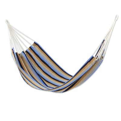 Handwoven Guatemalan Single Polyester Tree Hammock Color: Quiet Beach
