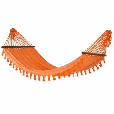 Single Cotton Camping Hammock Color: Orange