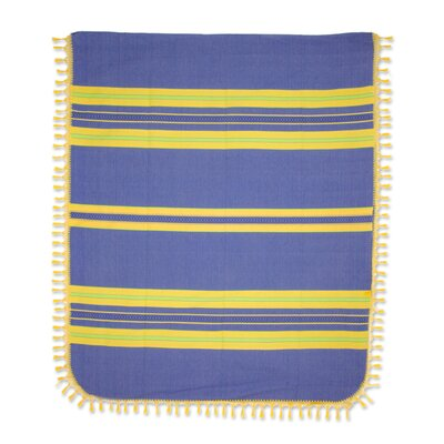 Hand-Woven Cotton King Bedspread