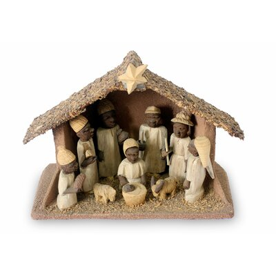 Hand-Crafted Wood Religious Nativity Set 202358