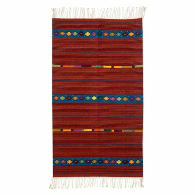 Zapotec Handmade Red Area Rug