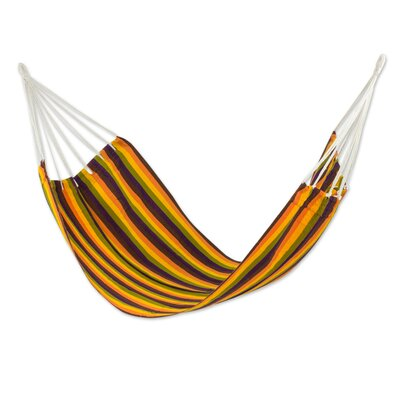 Handwoven Guatemalan Single Polyester Tree Hammock Color: Guatemalan Sunset