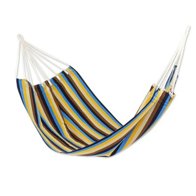 Handwoven Guatemalan Single Polyester Tree Hammock Color: Tropical Breeze