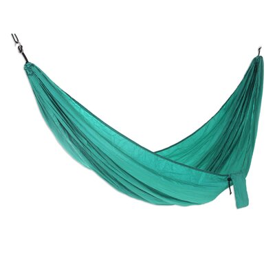 Parachute Nylon Camping Hammock Size: Double, Color: Green