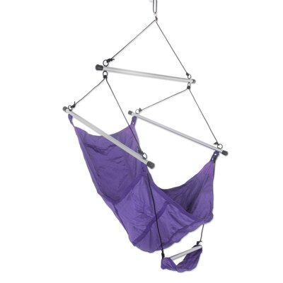 Parachute Nylon Chair Hammock Color: Purple