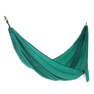 Parachute Nylon Camping Hammock Size: Single, Color: Green