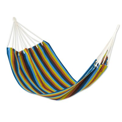 Handwoven Guatemalan Single Polyester Tree Hammock Color: Country Roads