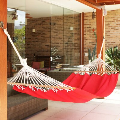 Crocheted Fringe Spreader Bar Cotton Tree Hammock