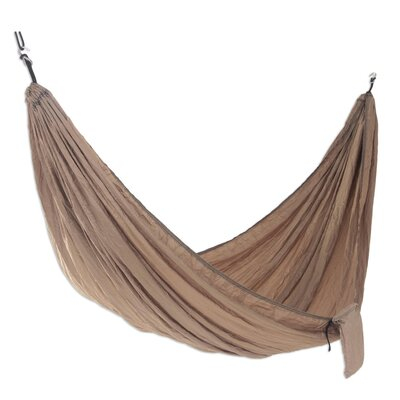 Parachute Nylon Camping Hammock Size: Double, Color: Tan