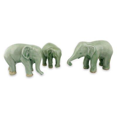 Youmans Ceramic Elephant 3 Piece Figurine Set 420024B52EB44375A890C5CA142FD31F