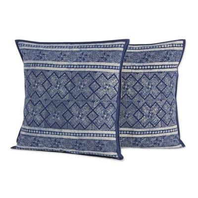 Thai Artisan Crafted Batik Cotton Pillow Cover