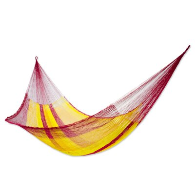 Mayan Single Nylon Camping Hammock Color: Tequila Sunrise