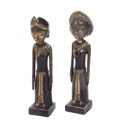 Artisan Crafted Bronze 2 Piece Figurine Set 243034