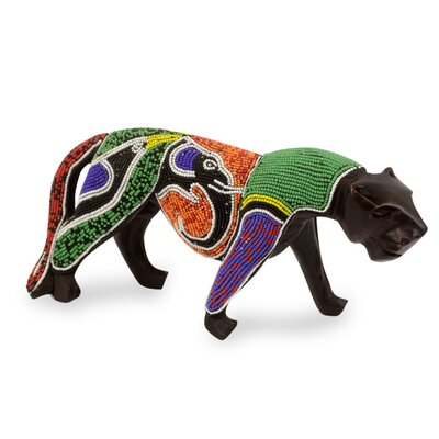 Panther with Elephant and Bird Figurine 248216