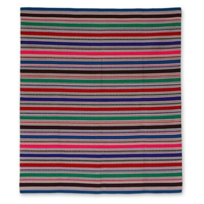 Alpaca Wool Striped Throw