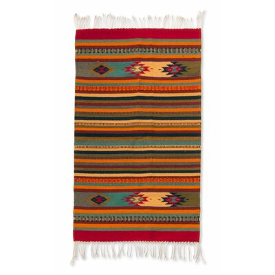 Weare Artisan Crafted Geometric Its a Colorful Life Expertly Hand Woven Mexican Wool Home Decor Area Rug