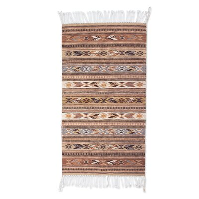 Zapotec Hand-Loomed Gray Area Rug