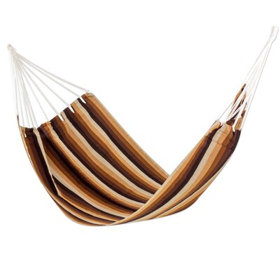 Handwoven Guatemalan Single Polyester Tree Hammock Color: Earthly Reign
