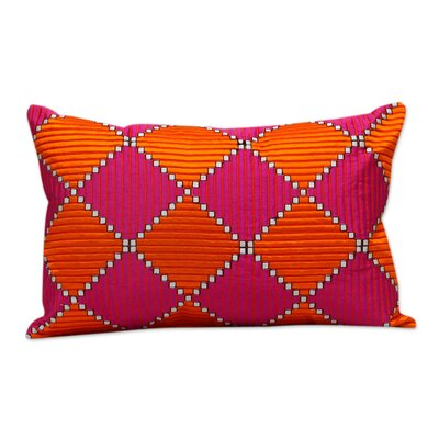 Machine Embroidered Satin Stitch Pillow Cover