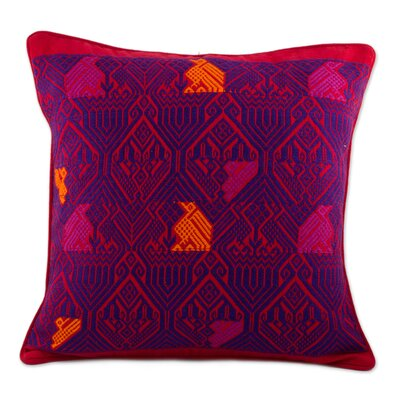 Hand Woven Maya Backstrap Loom Pillow Cover