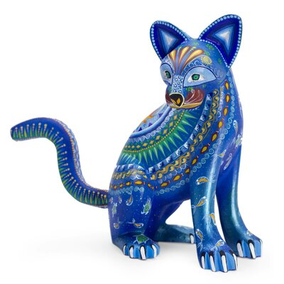 Oaxaca Folk Art Alebrije Mystical Cat Figurine 224618