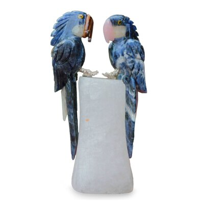 Quartz and Sodalite Bird Figurine 214720