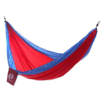 Single Parachute Nylon Camping Hammock Color: Red/Blue