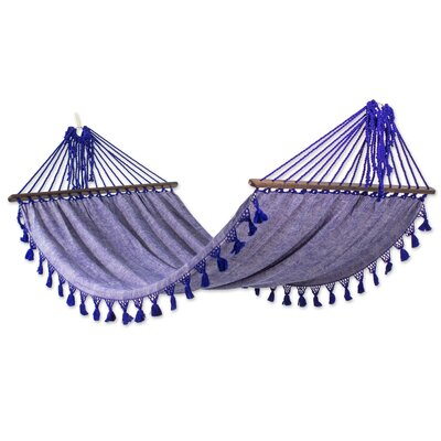Single Cotton Camping Hammock Color: Purple