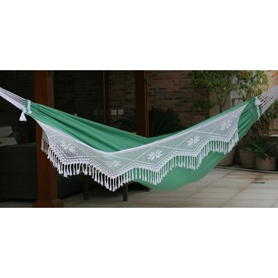 Crocheted Trim Cotton Tree Hammock
