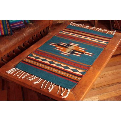 Mcfarlin Hand-Loomed Blue / Yellow Area Rug