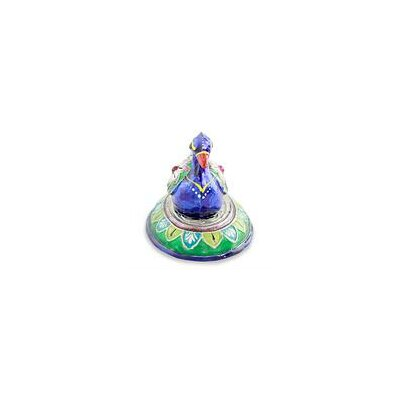 Lucknow Duck Meenakari Enamel on Sterling Silver Figurine 217344