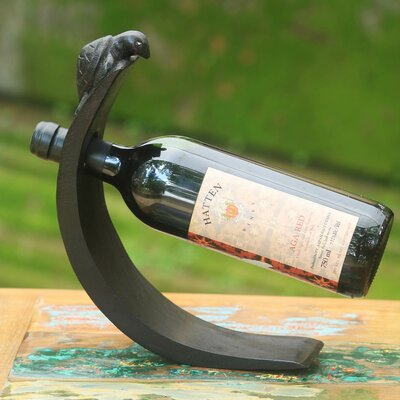 Turtle Theme Modern Wood 1 Bottle Tabletop Wine Bottle Rack