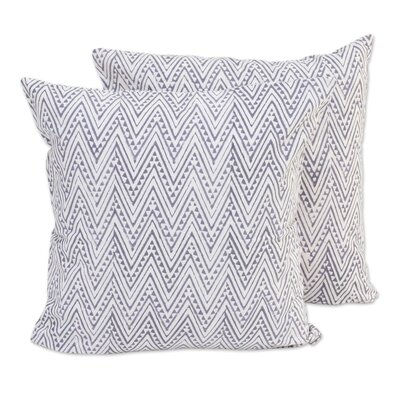 Zigzags Cotton Pillow Cover