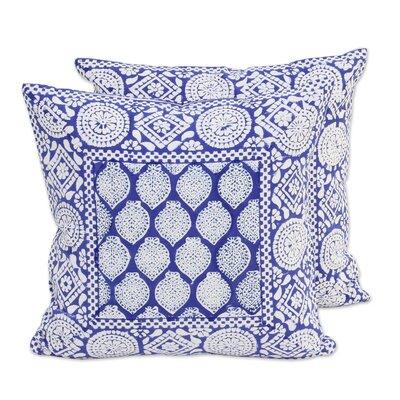 Royal Lapis Cotton Pillow Cover