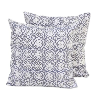 Floral Temple Cotton Pillow Cover