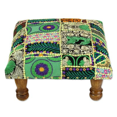 Rajasthan Wishes Embellished Ottoman