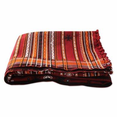 Gujarat Romance Hand-Woven Throw Blanket