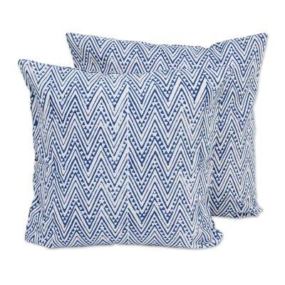 Caribbean Cotton Pillow Cover