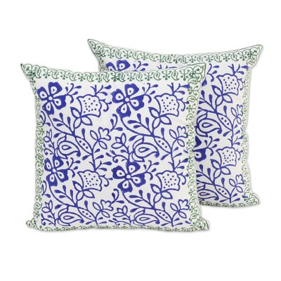 Vines Cotton Pillow Cover