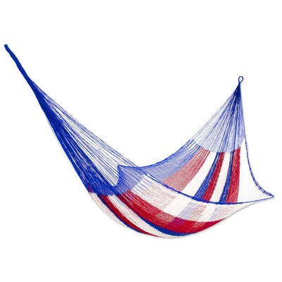 Patriotic Rope Single Nylon Tree Hammock
