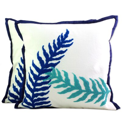Seema Alluring Leaves Pillow Cover