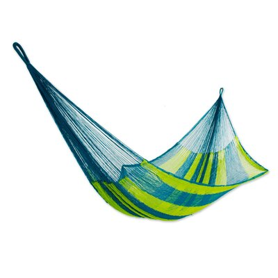 Fluorescent Tropics Rope Single Nylon Tree Hammock