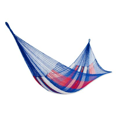 Patriotic Rope Double Nylon Tree Hammock