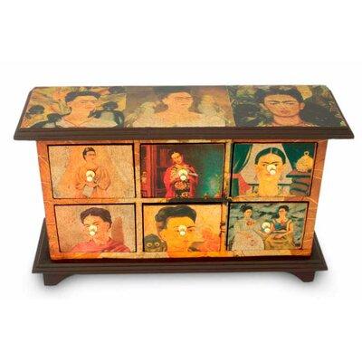 Visions of Frida Kahlo Decoupage 6 Drawer Dresser