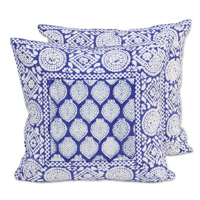Royal Lapis 100% Cotton Pillow Cover