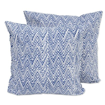 Zigzags 100% Cotton Pillow Cover